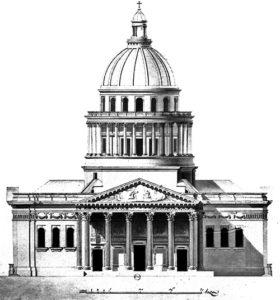 Façade du Panthéon de Paris - Jacques Soufflot